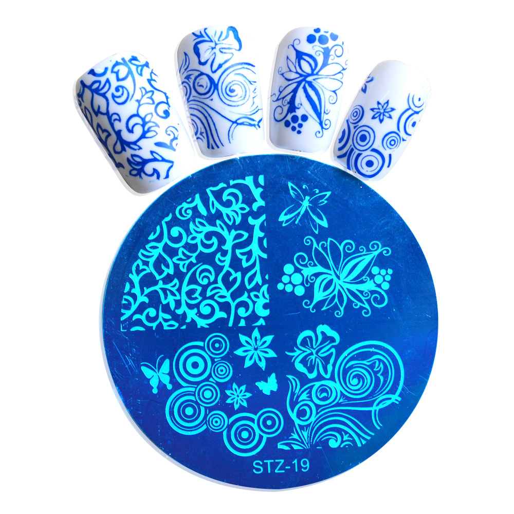 1pcs New Fashion Nail Art Decoration Polish Stamp Stamping Manicure Image Plate Templates Beauty Accessories BESTZA19