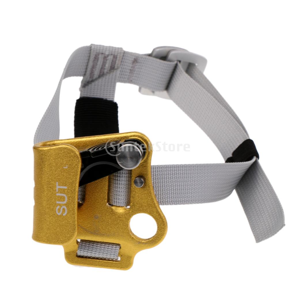 Gold Left Foot Ascender Riser Rock Climbing Mountaineering