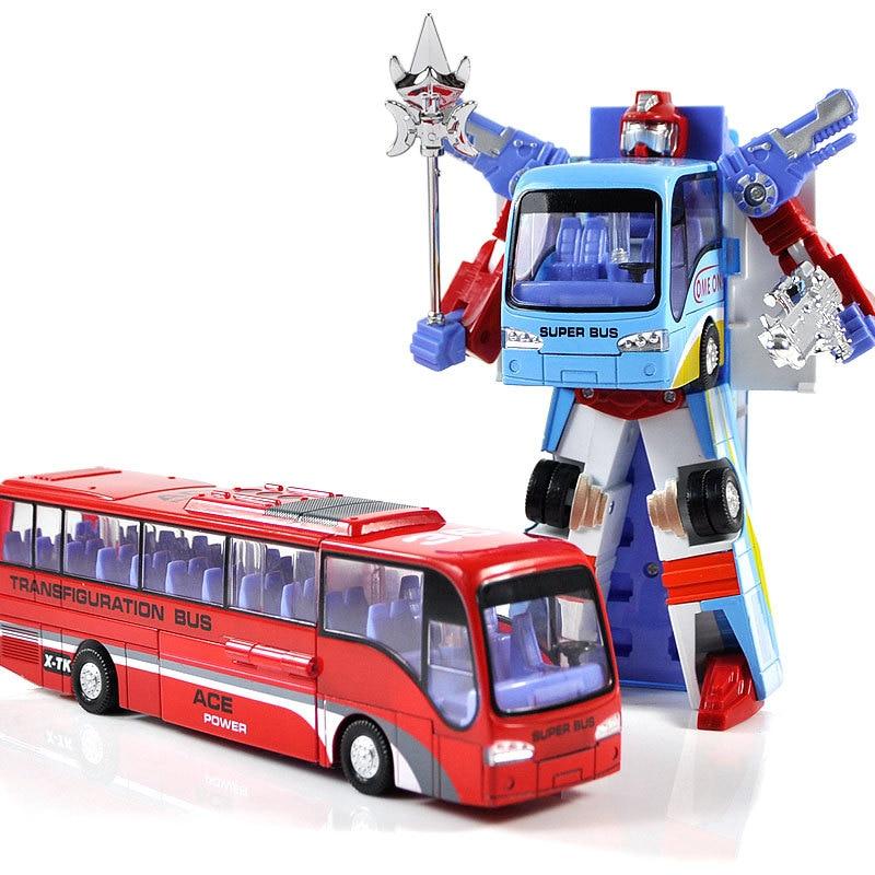 Alloy deformation bus robot deformation car alloy car model toy