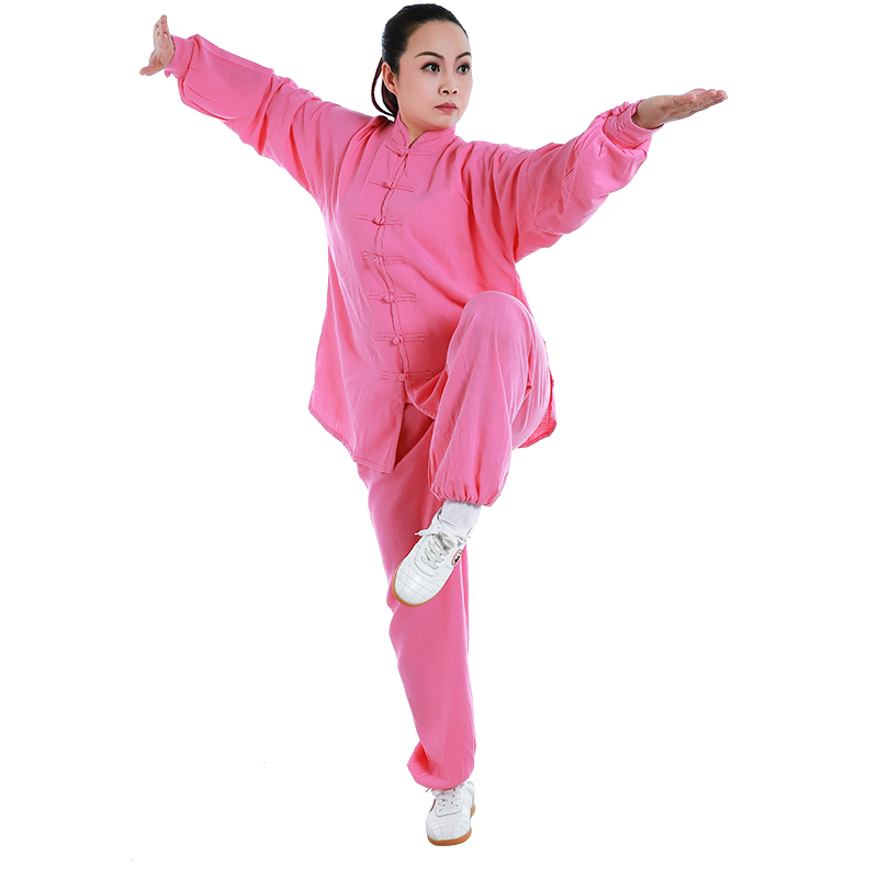 JDUanL Spring Summer Linen Martial Art Taoist Tai Chi Uniform For Women Men Shaolin Kung Fu Clothing Outfits Shirts Pants CO