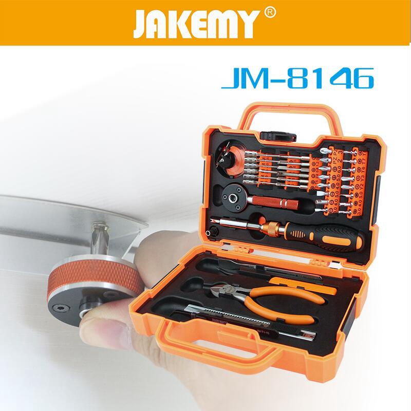 JAKEMYJM-8146  Screwdriver Set with Tweezer Pliers Knife Phillips Hexagon Slotted & Torx Bits Repair Tool Kit precision torx screwdriver set 53 in1 tweezer flexible drill shaft disassembly screwdriver repair open tool kit for cell phone