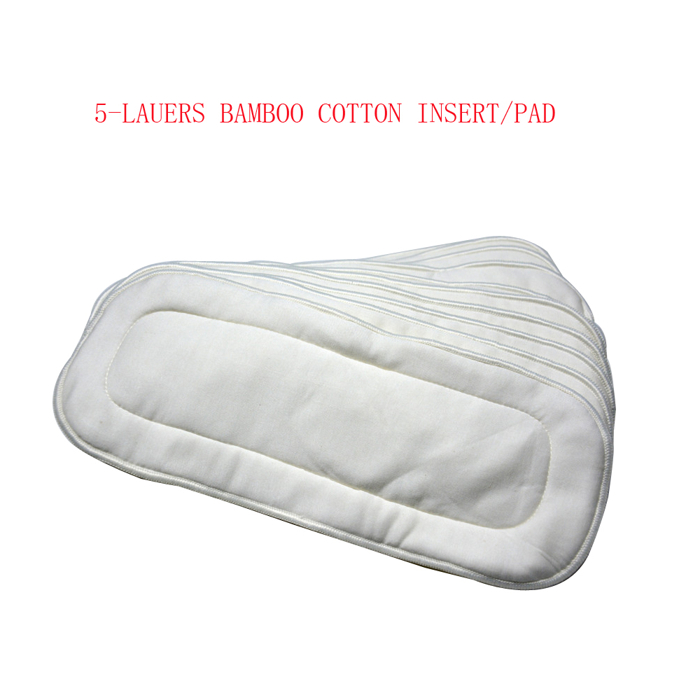 ( 10Pieces A Lot) Soft Bamboo Cotton Liners White Cotton Bamboo Liners Bamboo Pads With Pocket Cloth Diaper Use Night And Day