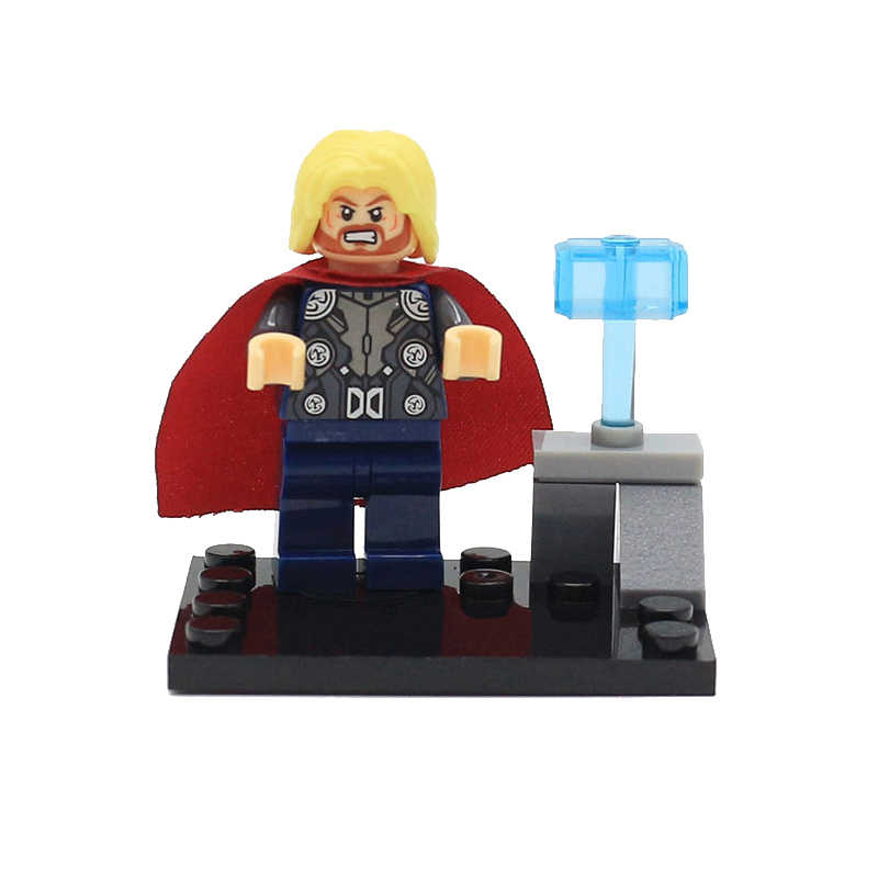 8 шт./компл. Marvel мстители супергерой моделл строительные блоки игрушки Капитан Америка Железный человек Халк Тор экшн игрушки Фигурки игрушки куклы
