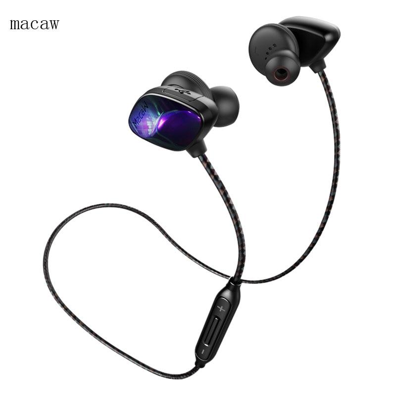 Macaw T800 Bluetooth-hörlurar Vattentät Sport i öron Auriculares - Bärbar ljud och video