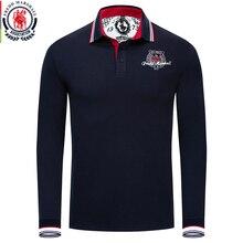 Fredd مارشال الخريف ماركة الملابس جديد الرجال قميص بولو الرجال عادية التطريز قميص بولو s طويلة الأكمام الصلبة الذكور قميص بولو 061