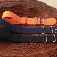 Bracelet plus sangle bracelet avec des anneaux Noir Bleu en caoutchouc Montre bracelet Noir Argent Boucle ardillon 18mm 20mm 22mm pour le sport montre
