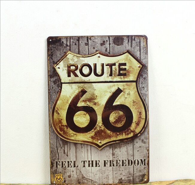 ROUTE 66 Vintage Tin Sign Bar pub home Wall Decor Retro Metal Art Poster 1003