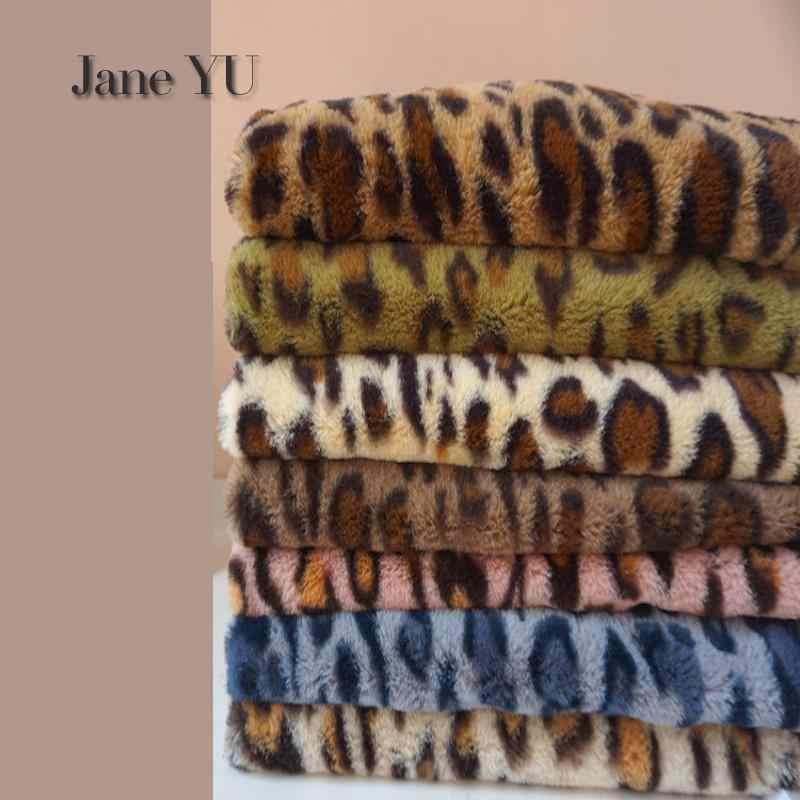 JaneYU Nieuwe Leopard-print Konijn Haar Verdikte Otter-achtige Konijn Haar Doek Teller Achtergrond Bont Kunstmatige Wollen Doek