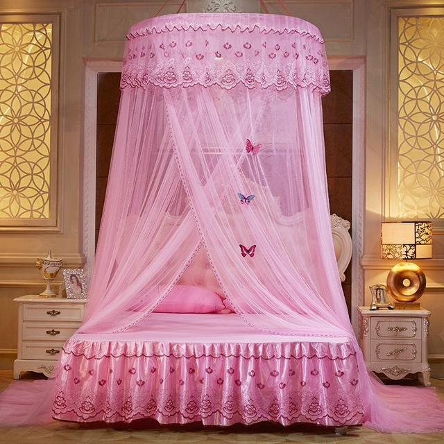 Previous; Next & Mosquito Net For Double Bed Home Decor Summer Gauze Lace Bed Canopy ...