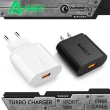 Aukey QC2.0 Teléfono Inteligente de Carga Rápida USB Cargador de Pared de Carga Rápida para asus zenfone 2 samsung galaxy s6 xiaomi mi4 ue ee. uu. enchufe