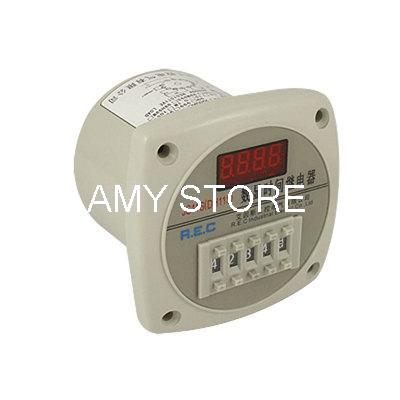 цена на Panel Mounting 9999h Red LED 4 Digits Time Relay JS11S