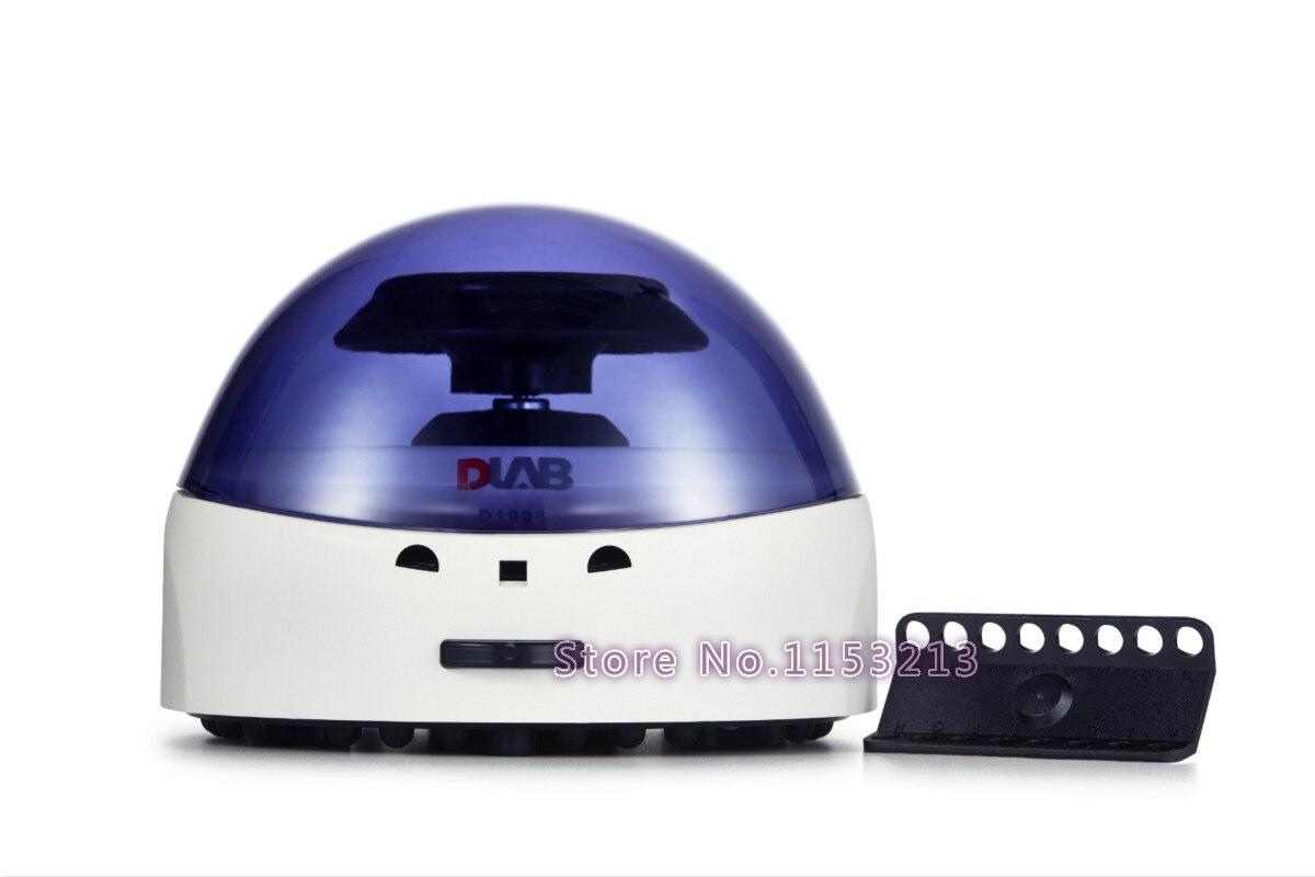 купить Dlab D1008 EZeeMini Centrifuge 7000rpm Palm Micro centrifuge 0.5ml, 1.5ml, 2ml Dragon lab Laboratory serum separator по цене 7554.02 рублей