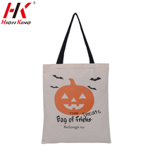 25 pieces halloween gift bags factory direct sales 100% cotton canvas children tote candy bags with free shipping kids tote bags(China (Mainland))