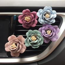 1pcs Romantic Camellia Air Freshener with Clip Car Styling Perfume For Air Condition Vent Outlet, with 2 PERFUME FOR FREE