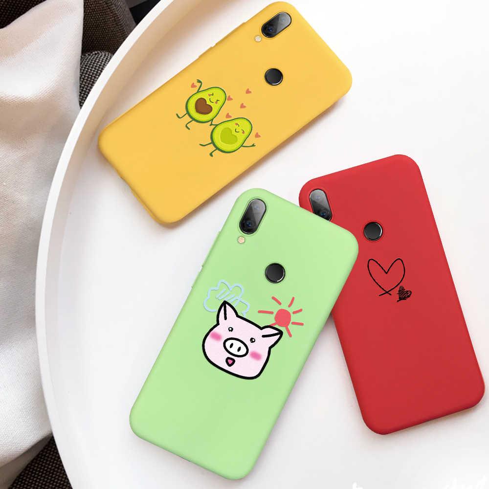 Цветной силиконовый чехол для телефона для Xiao mi Red mi Note 7 5 6 Pro 7A 6A mi A2 Lite Мягкий ТПУ чехол милый кот животное Капа с узором чехол