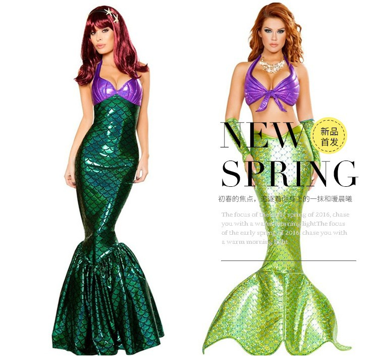 festival adult mermaid costume halloween events cosplay ariel mermaid tails costume girl bikini sandy beach costume clothings in sexy costumes from novelty