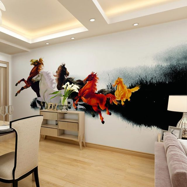 gallery of home office decor mural living room bedroom wallpapers painting  horse photo wallpaper murals with dcoration murale auto adhsive. Dcoration Murale Auto Adhsive  Great Ocean Murals Wall Decor