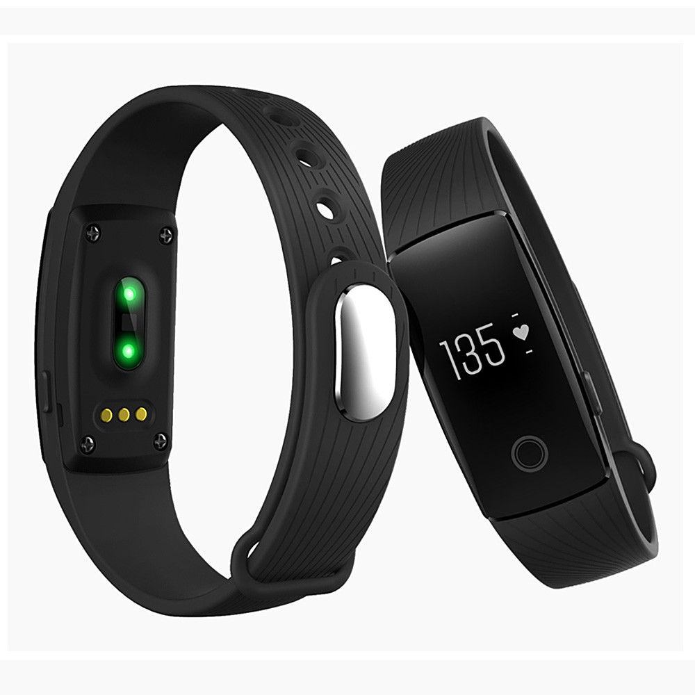 Makibes ID107 Smart Bracelet BT4.0 Heart Rate Monitor Smartband Pulse Sports Fitness Tracker for Android iOS 12