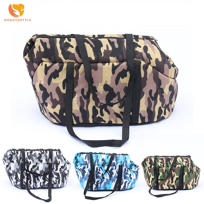 Camouflage Carrying Dog Handbag Breathable High Elastic Sponge Material Dog Bag Outdoor Portable Shoulder Bag For Small Dogs  Собака