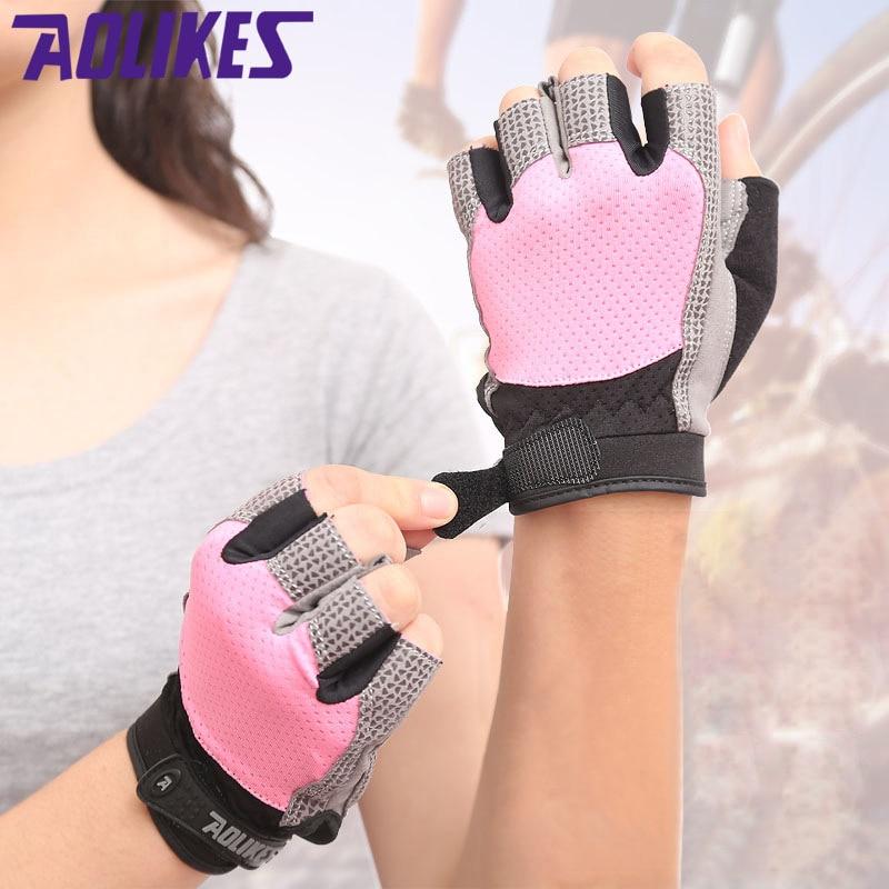 Women S Fitness Gloves With Wrist Support: Women Gym Gloves Dumbbells Gloves Fitness Half Finger