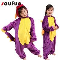 Kigurumi Dinosaur Halloween Pajamas For Children Kid Unisex Unicorn Bodysuit Cartoon Pijama Animal Anime Winter Pyjama