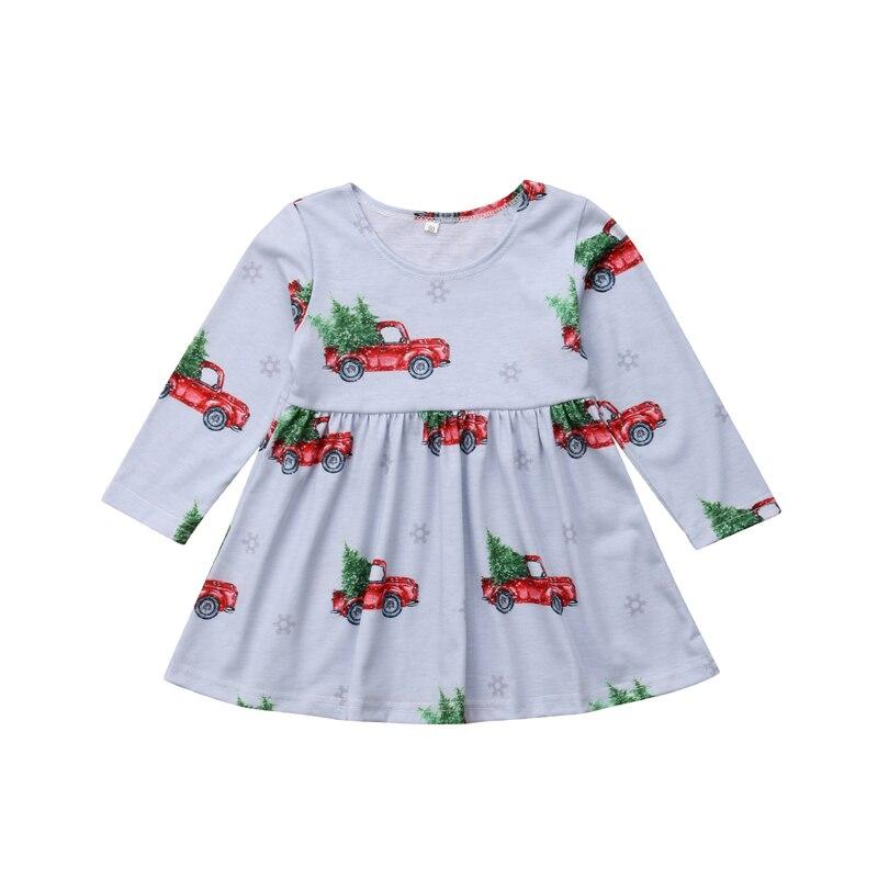 Mother & Kids Girls' Clothing Focusnorm Princess Kids Baby Girls Dress Unicorn Print Striped Long Sleeve Dress Party Casual Dresses