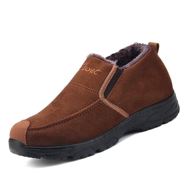 Chaussures Bottes Hommes Cheville Hombre D'hiver green Chaud Khaki Pour Neige Mocassins Botas En Hiver Peluche qRy4fK4t