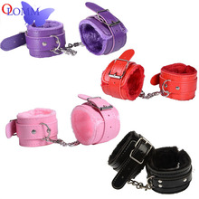 Olomm Adult Products Bondage Sexy Toys New PU Fur Handkerchief Ankle Cuffs Fun Accessories Sex Handcuffs Gmes