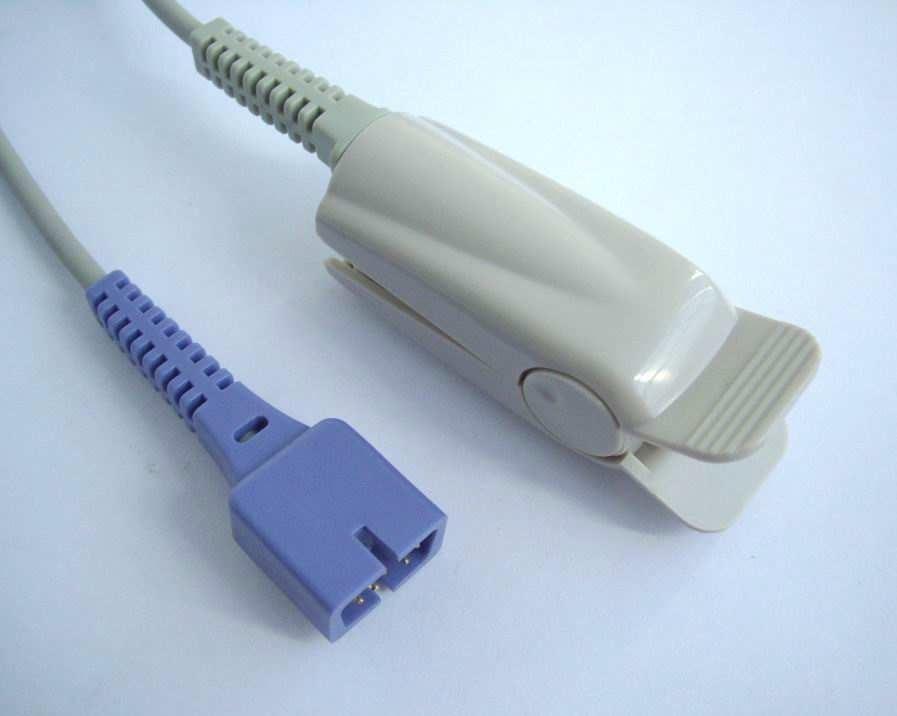 Free Shipping Nellcor DS-100A Spo2 Sensor (Oximax) ,Adult Finger Clip Spo2 Sensor,9 Pins, 1M