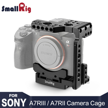 цена SmallRig DSLR Camera A7M3 A7M2 Cage Quick Release Half Cage W/ Manfrotto plate for Sony A7RIII / A7III / A7II /A7RII / A7S II онлайн в 2017 году