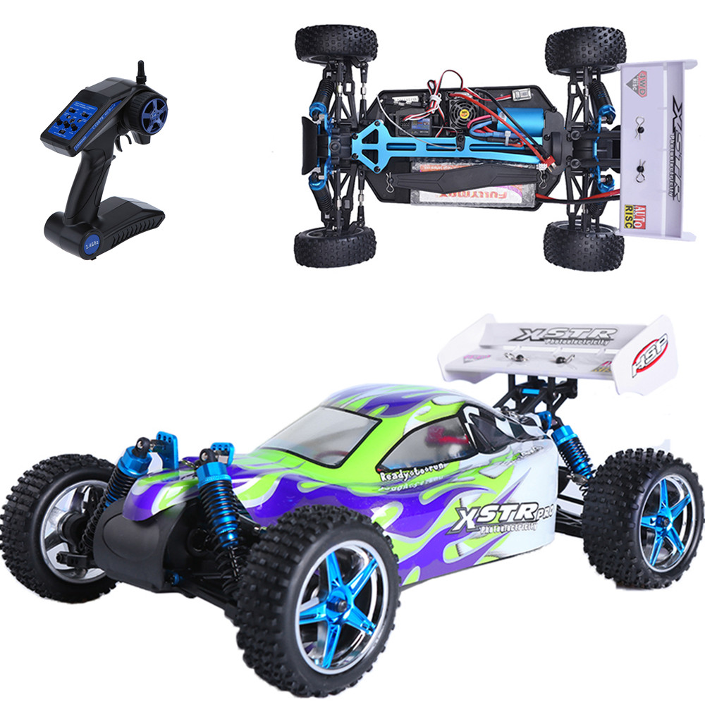 HSP Rc Car 1/10 Scale Model Electric Power 4wd Off Road Buggy Remote Control Car 94107 PRO High Speed Hobby Kid Toys 02023 clutch bell double gears 19t 24t for rc hsp 1 10th 4wd on road off road car truck silver