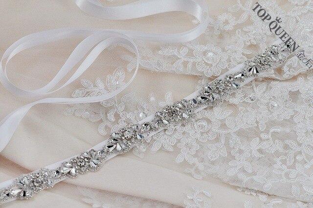 TOPQUEEN S235 Women's Handmade Crystal Rhinestones Wedding Evening Party Dress Accessories Bride Bridesmaid Bridal Sashes Belts