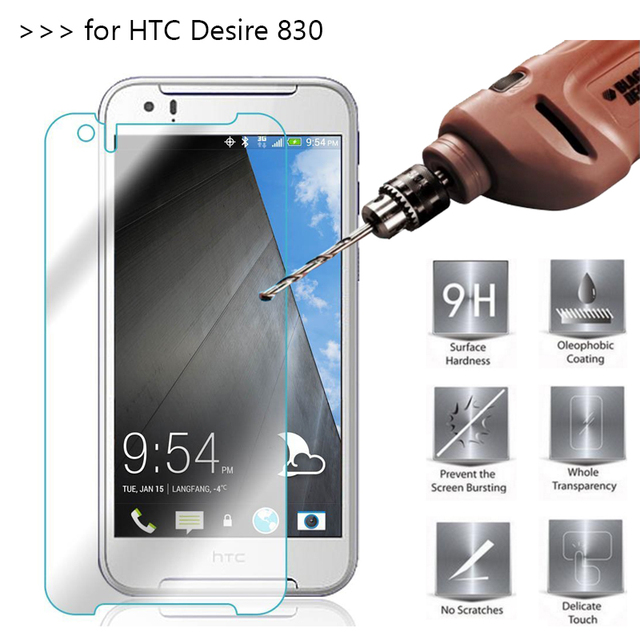 new style 4942d bd147 US $1.48 20% OFF|Tempered Glass For HTC Desire 830 Case Screen Protector on  Desire 830 Dual Sim Film Cover GLAS Sklo Fundas 9H 2.5D-in Phone Screen ...