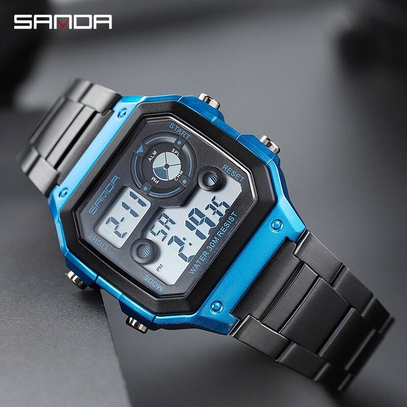 Uhren 2019 Neue G Uhren Wasserdichte Sport Militär Uhren Uhren Hombre Marke Sanda Mode Uhren Männer Led Digital Uhren ZuverläSsige Leistung