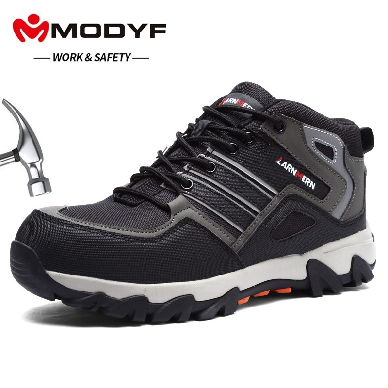 MODYF Breathable Men Safety Shoes Steel Toe Work Shoes For Men Anti smashing Construction Hiking With