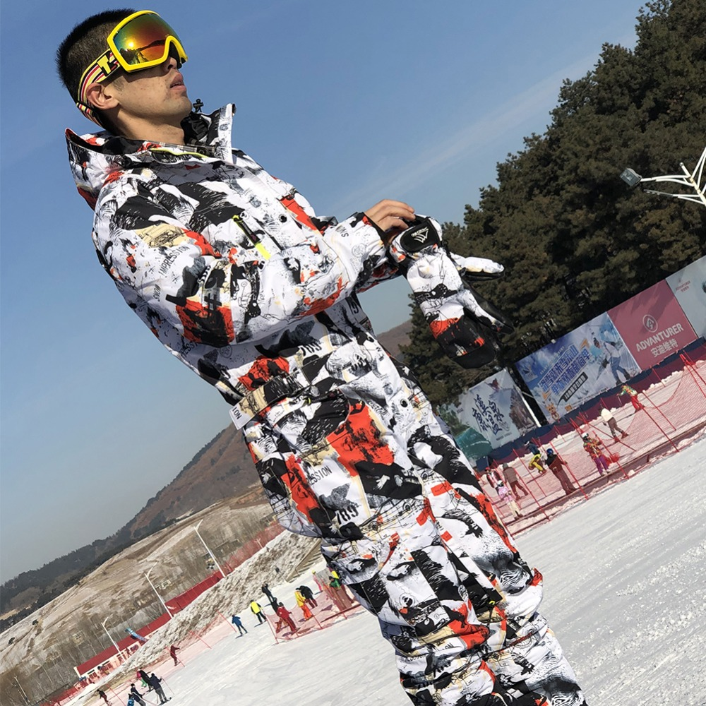 de42c2107f8 SAENSHING ski suit men winter waterproof thick warm snowboard jacket one  piece ski jumpsuit Sport Snowboard and mountain skiing-in Skiing Jackets  from ...