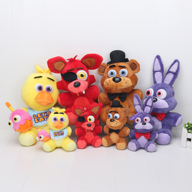 14cm 25cm Five Nights At Freddy Toy FNAF Foxy Bonnie Chica Golden Fazbear Doll