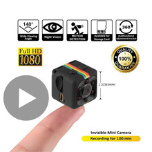 SQ11 SQ 11 HD Night Vision Smart Small Secret Micro Mini Camera Video Cam 1080p Wireless Portable Tiny DV Miniature Microchamber(China)