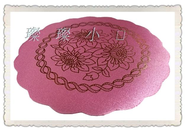 YJ-1004# Pink Diameter 12cm PVC Mat for plate bowl table hotel dining cushion ashtray vase Place matsWaterproof(6 pieceslot)