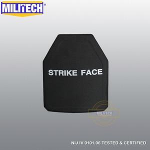 Image 2 - MILITECH 2 PCs Curve SIC & PE NIJ IV Bulletproof แผง NIJ IV Stand Alone Ballistic แผ่น NIJ LVL 4 คอมโพสิตเกราะ
