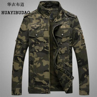 Embroidery Air Force Medal Collar Slim Camouflage Coat Military Jacket Hunting Clothes Army Jacket Men Outdoor