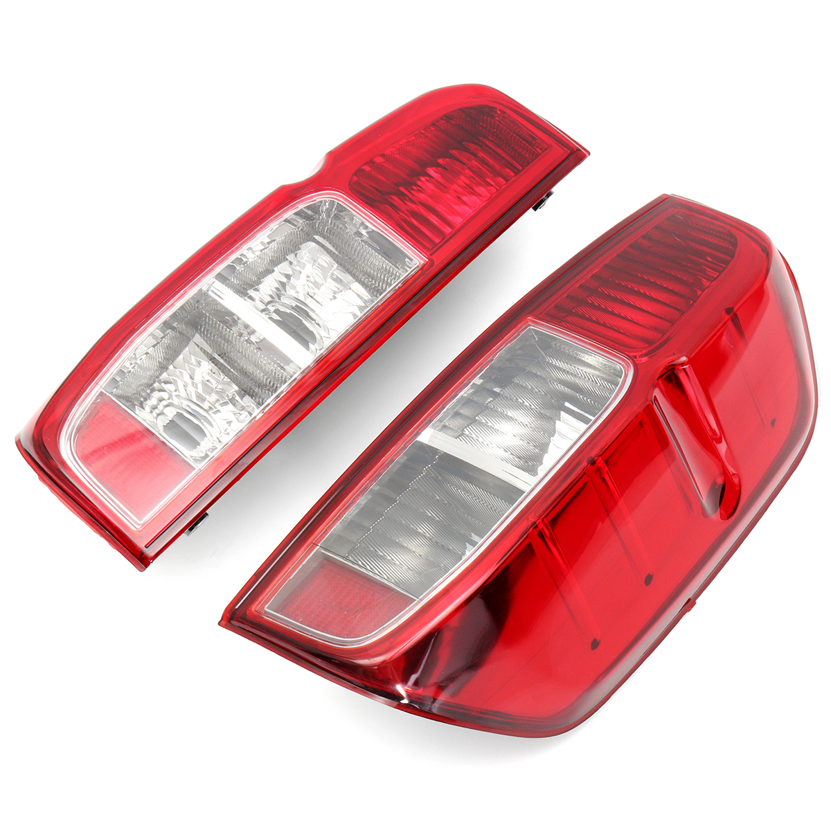 2Pcs LEFT/RIGHT Rear Tail Light Driver Passenger Side Lamp For Nissan NAVARA D40 2005-2015 1pcs black holder outer rear tail lamp taillight right passenger side 8330a622 for mitsubishi lancer evo 2006 2012