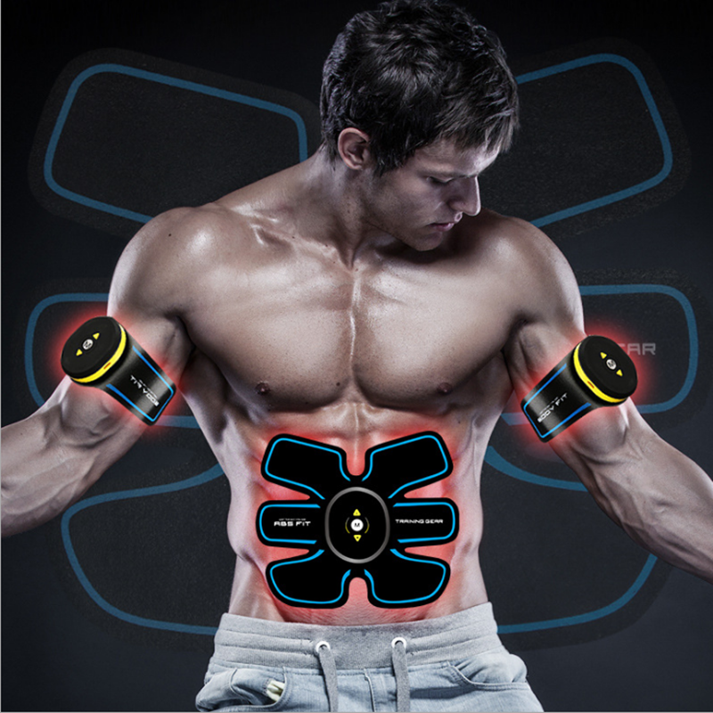 цена New Rechargable Abdominal machine electric muscle stimulator ABS ems Trainer fitness Weight loss Body slimming Massage
