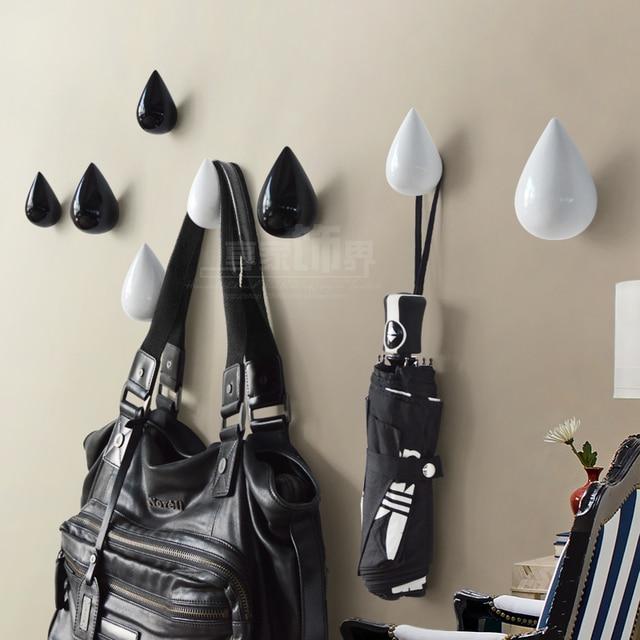 € 9.78 10% de réduction La décoration murale créative européenne moderne  gouttelettes mur salon entrée porte crochet vêtements crochet patères dans  ...