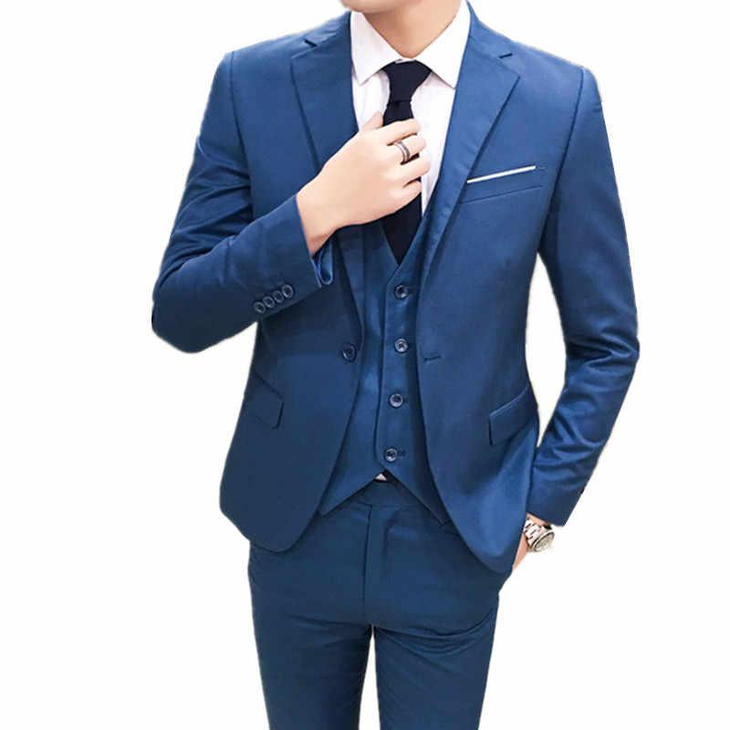 3982cc3b9bc91 Для мужчин s костюмы Формальные Мужской костюм комплект Для мужчин свадебные  костюмы смокинг жениха (куртка