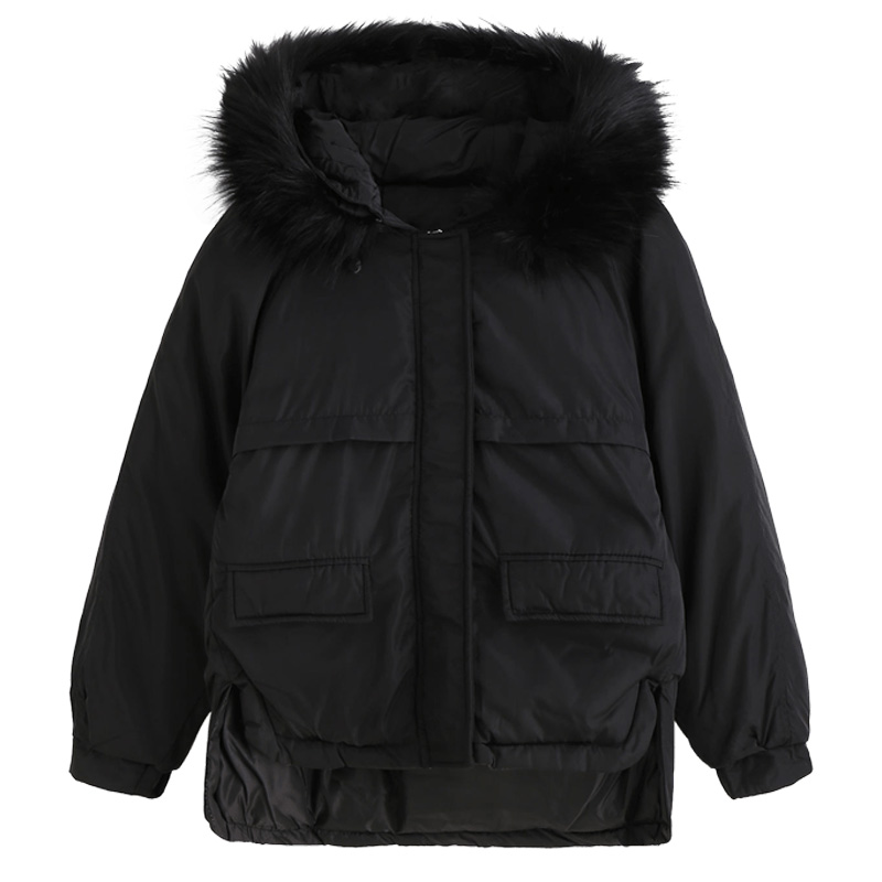 Warm Cotton Hooded Faux