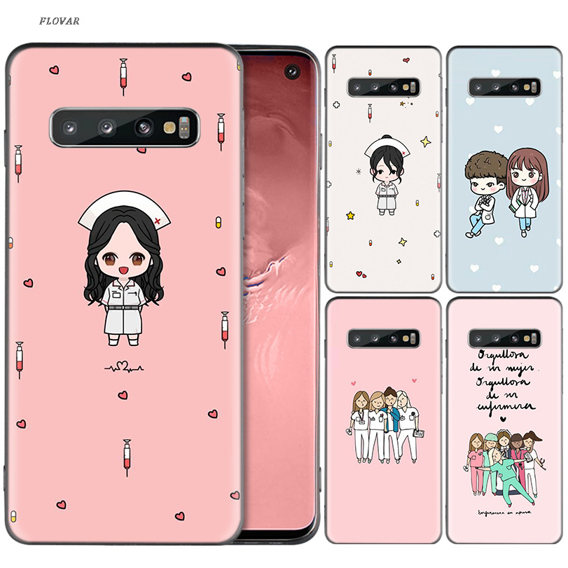 Cellphones & Telecommunications Cute Cartoon Medicine Nurse Doctor Soft Fitted Case For Samsung Galaxy A70 A50 M30 S10 Plus S10e M20 M10 A40 A30 A20 A10 A20e Relieving Heat And Sunstroke