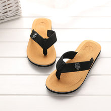 BONJEAN Men Summer Flip Flop Shoes Sandals Male Slipper Beach Flip Flops Men Fashion Home Non-slip Breathable Slippers(China)