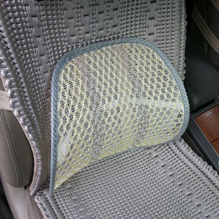 Newest Car Seat Back Cushion Car Seat Chair Massage Back Lumbar Support Mesh Ventilate Cushion Pad Black,