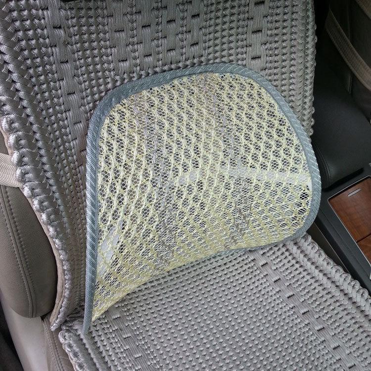 Newest car seat back cushion Car Seat Chair Massage Back Lumbar Support Mesh Ventilate Cushion Pad Black, 2016 hot sale back massage chair heat seat cushion neck pain lumbar support pads car
